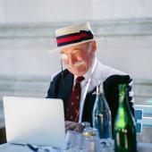 довольный пенсионер